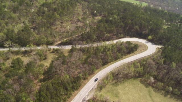 HD: Car Driving Along Winding Road video