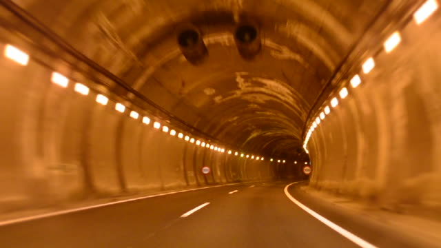 POV Car Driving in Highway Tunnel video
