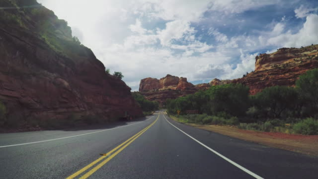 POV-Auto fahren in der scenic Byway 12 USA – Video