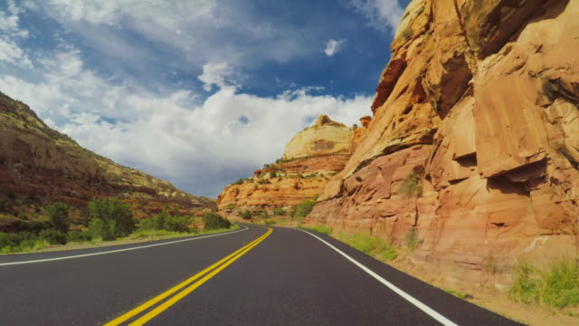 pov bil körning i vid scenic byway 12 av usa - bilperspektiv bildbanksvideor och videomaterial från bakom kulisserna