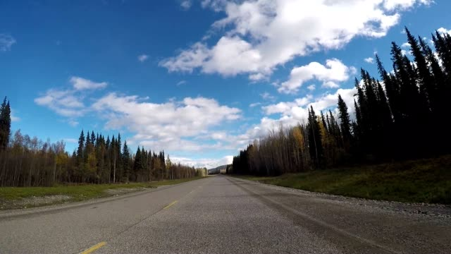 Car driving POV on scenic Canadian roads video