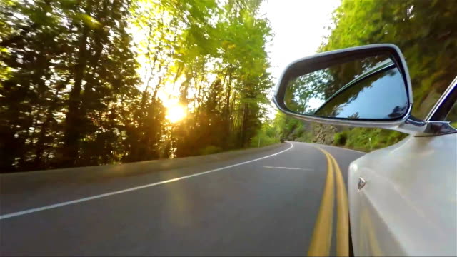 Car Driving on Small Mountain Road video