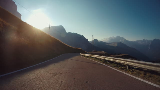 POV car: Driving on the Dolomites European Alps video