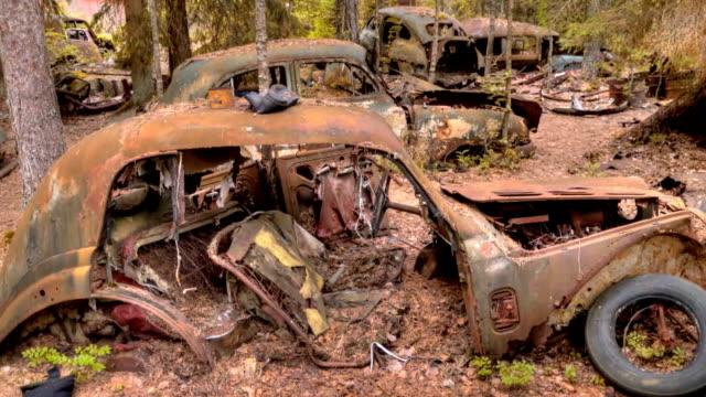 Car Dump Kirkoe Mosse in Ryd, Sweden video