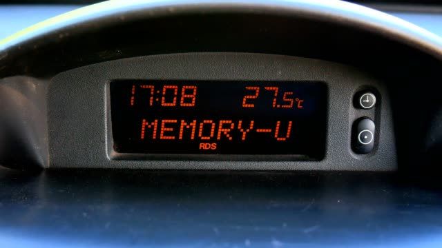 Car electronic trip, temperature, clock and cassette, changing the display.