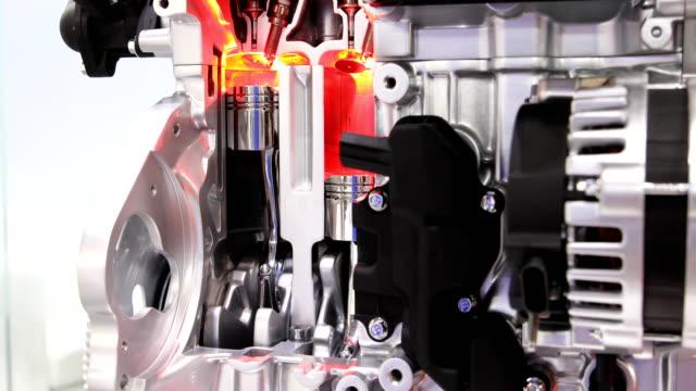 automotor zylinder kolben bewegung - wasserstoff stock-videos und b-roll-filmmaterial