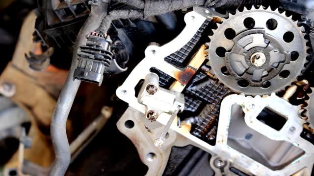 Car engine details video