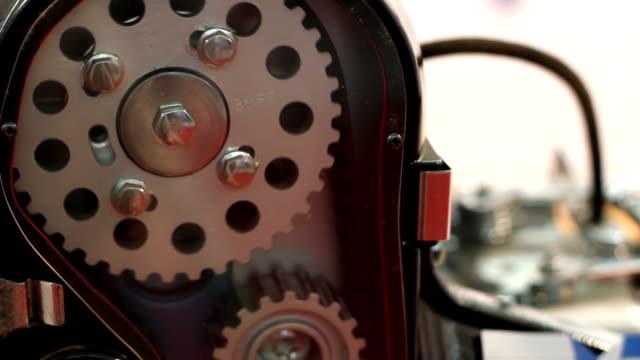 car engine work detail video