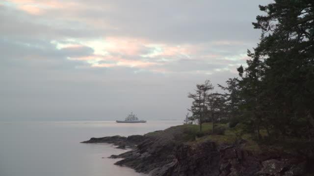 Car Ferry, Gulf Islands, BC. UHD video