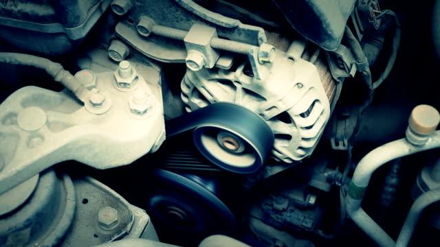 Car ignition engine starts. Starting car Engine. video