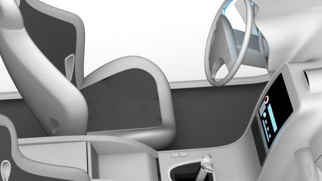 wnętrze samochodu - ster fragment pojazdu filmów i materiałów b-roll