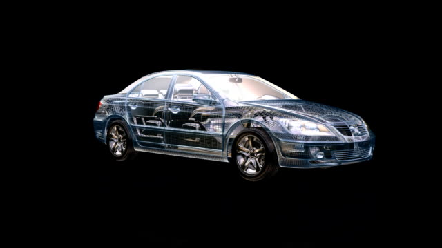 Car morphing from project to final product,wind tunnel video