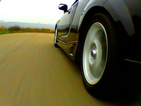 Car moving by the asphalt road video