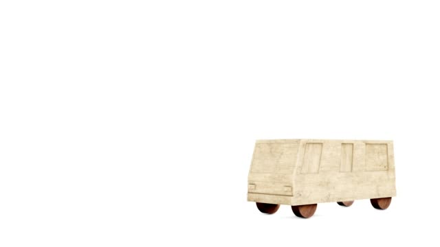3D car on a white background