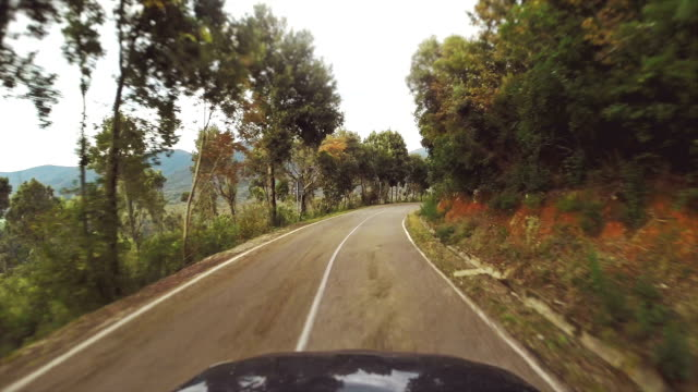 Car Onboard Camera on a mountain pass video
