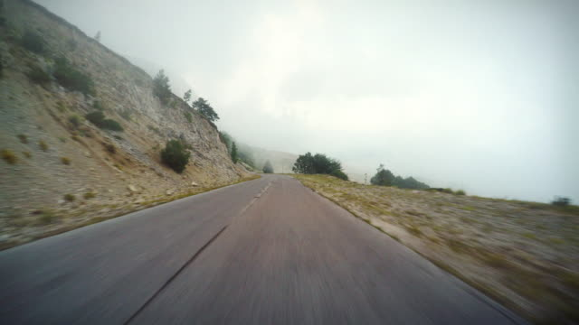 Car onboard camera: out of the fog video