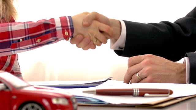 Car Ownership - 4K Resolution Car Ownership, Car Rental, Handshake, Car, Contract car salesperson stock videos & royalty-free footage