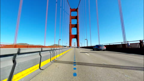 Car point of view of the Golden Gate Bridge in San Francisco CA Car point of view of the Golden Gate Bridge in San Francisco CA famous place stock videos & royalty-free footage