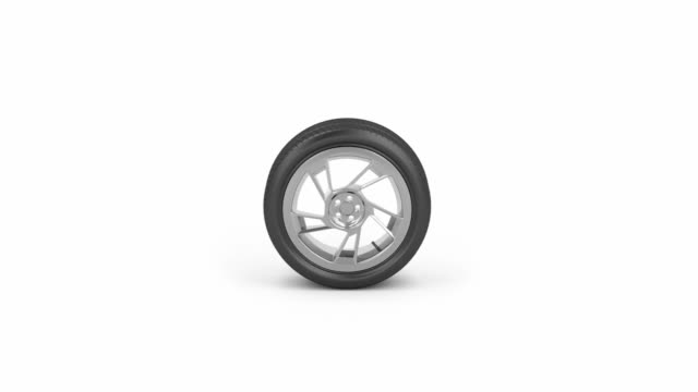 Car tire Car tire rolling from right to left tires stock videos & royalty-free footage