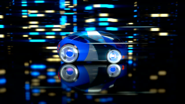 car racing - 3d animation - self driving cars stock videos & royalty-free footage