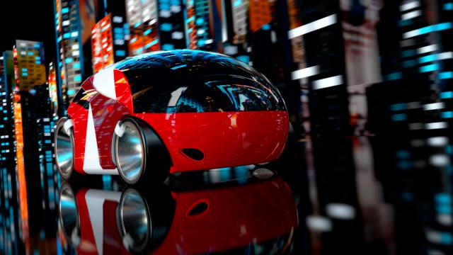 カーレース - 3 d アニメーション - 自動運転車点の映像素材/bロール