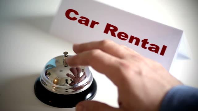Car Rental Service Desk Call Bell video