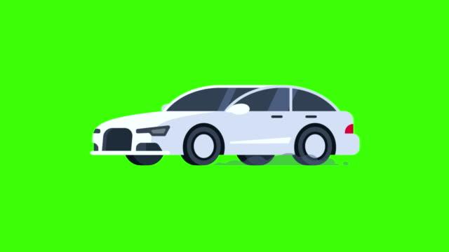 vídeos de stock, filmes e b-roll de passeios de carro e flashes spotlight. plano de fundo transparente. - ilustração e pintura