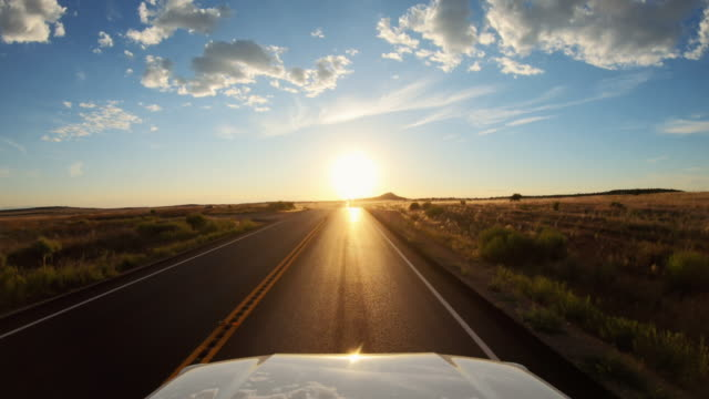 POV car road driving near Canyonlands, Moab