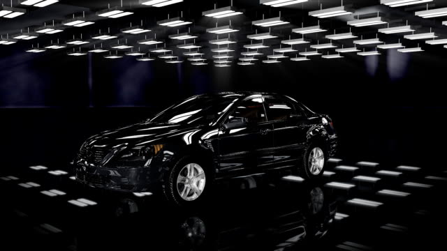 Car rotating, seamless loop video
