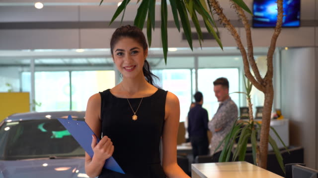 car saleswoman video