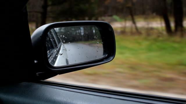 car side mirror 2 - podążać za czynność ruchowa filmów i materiałów b-roll