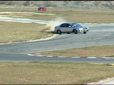 Car Skids Off Race Track video