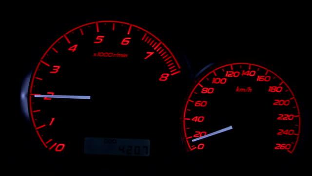 Car speedometer video