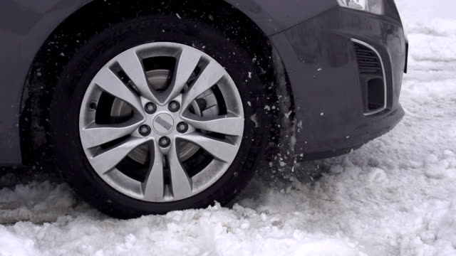 Car stuck in the snow video