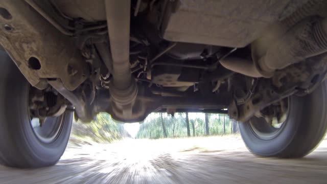 car suspension system for reducing vibration when driving. high definition - molla video stock e b–roll