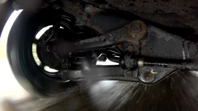 Car Suspension System On Puddle And Wet Surface video