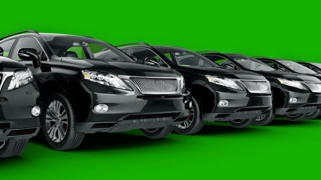 car SUV coupe. 3d rendering video