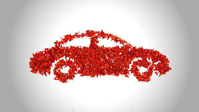 Car Symbol made by Orange Butterflies - Alpha video