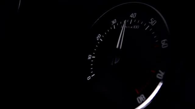 Car Tachometer close up video