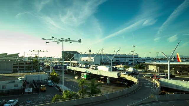 Car Traffic at Los Angeles International Airport video