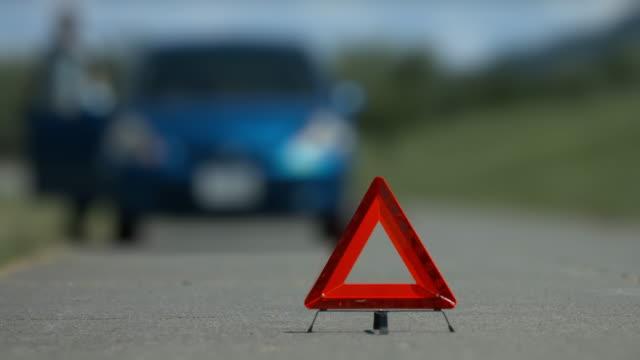 car trouble accident female driver worry - rimorchiatore video stock e b–roll