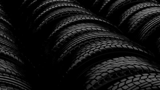 Car tyre wheels storage night black light