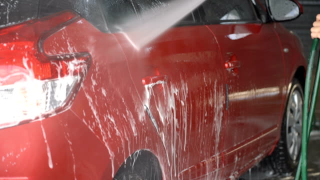 Car washing. video
