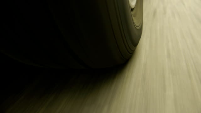 Car wheel rolling - Close Up. video