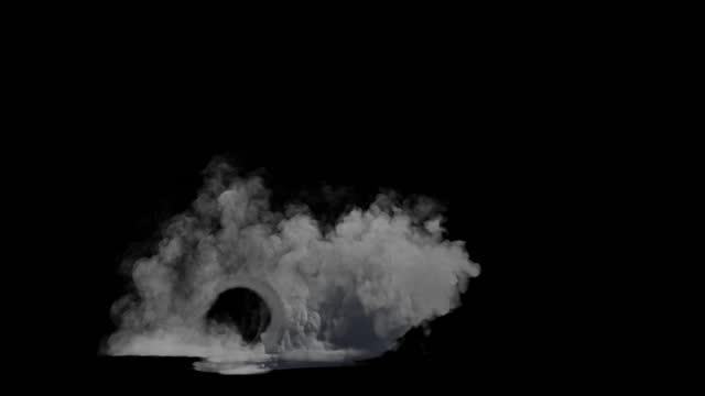 autorad geschwindigkeit rauch, luma matte - asphalt stock-videos und b-roll-filmmaterial