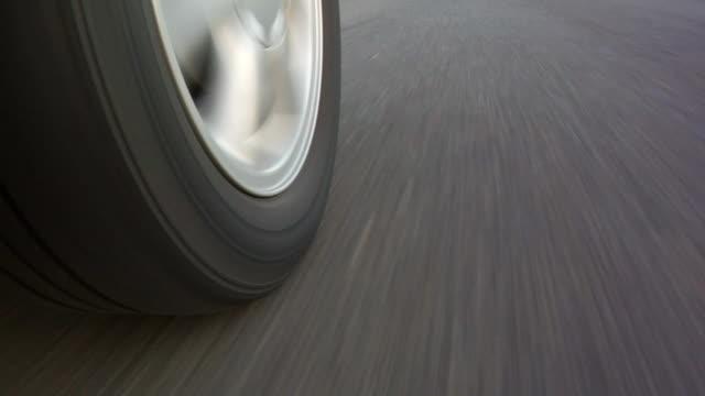 Car Wheel While Driving