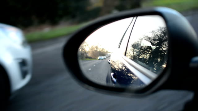 Car wing(side) mirror, daytime driving video