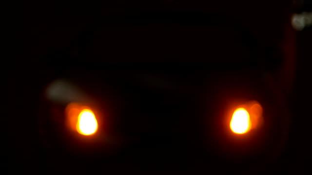 車、点滅アザールの夜景 - こっそり点の映像素材/bロール