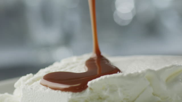 Caramel Topping Covering Ice Cream video