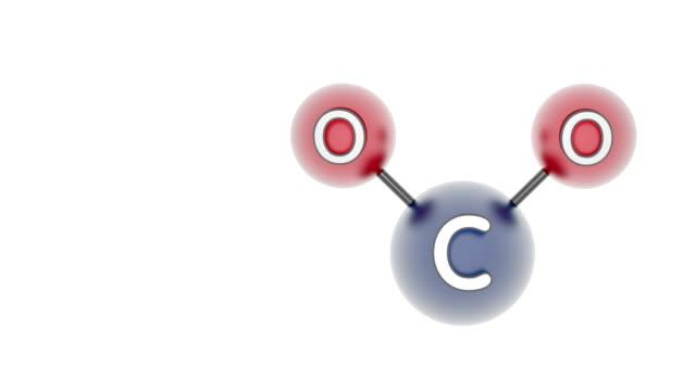 di co2. anidride carbonica. - anidride carbonica video stock e b–roll